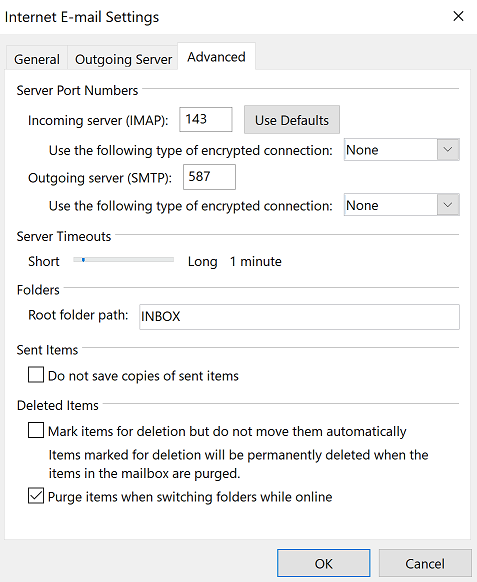 Crucial - Fix Email Settings on Outlook 2016 / 2013 / 2010